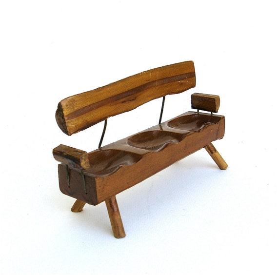 miniature rustic bench   ...   vintage miniature