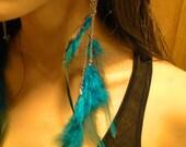 Boucles d'Oreilles Plumes - BlueBird Skull