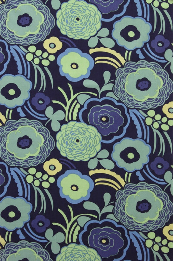 Alexander Henry Mocca Lawn Fabric in Blue