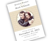Fresh and Modern Wedding Save the Date with Photo - Printable PDF