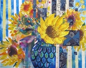 Sunflowers - Signed Fine Art floral Giclee Print