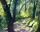 Descanso Gardens - Contemporary fine art landscape Greetings Card