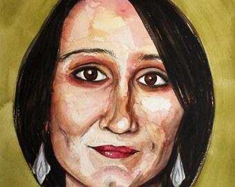 Elena - Original Watercolour Portrait Painting
