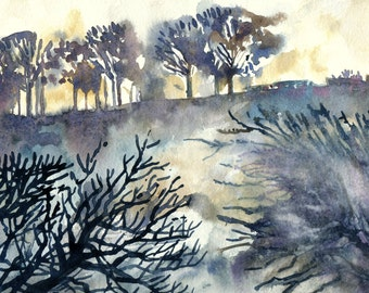 The Ridgeway, Oxfordshire - Original Watercolour Painting