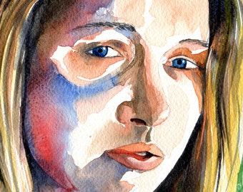 Arxigene - Original Watercolour Portrait Painting