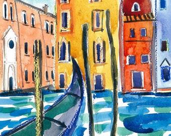 Venice - Original Watercolour landscape Painting