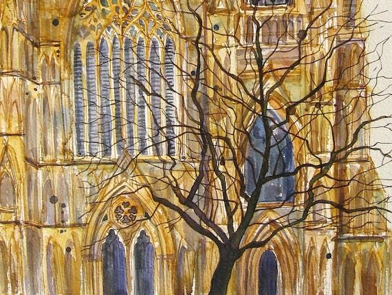 York Minster - Original Watercolour Painting