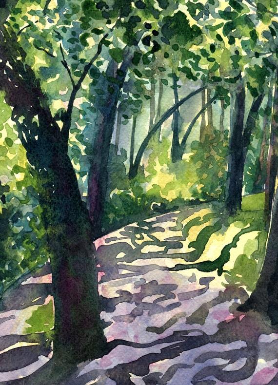 Descanso Gardens - Contemporary fine art landscape Greetings Card