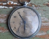 Vintage pocket watch case with movement and dial.KRISTAL-MOLNIJA.
