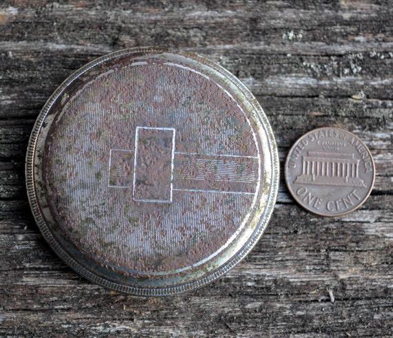 Antique pocket watch case.