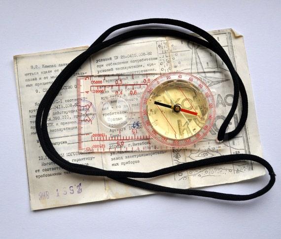 Vintage Russian plastic Compass.