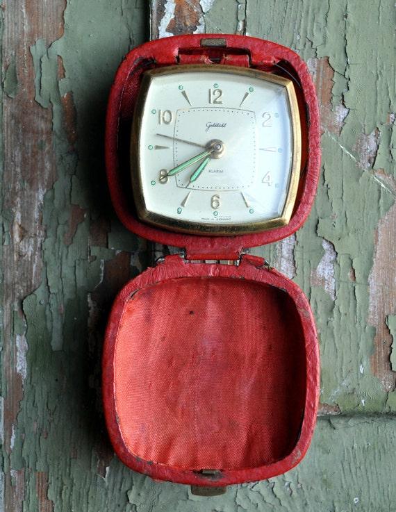 Vintage German travel alarm clock.For parts.