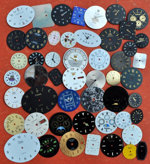 Lot of 50 quartz watch faces.dials.circle