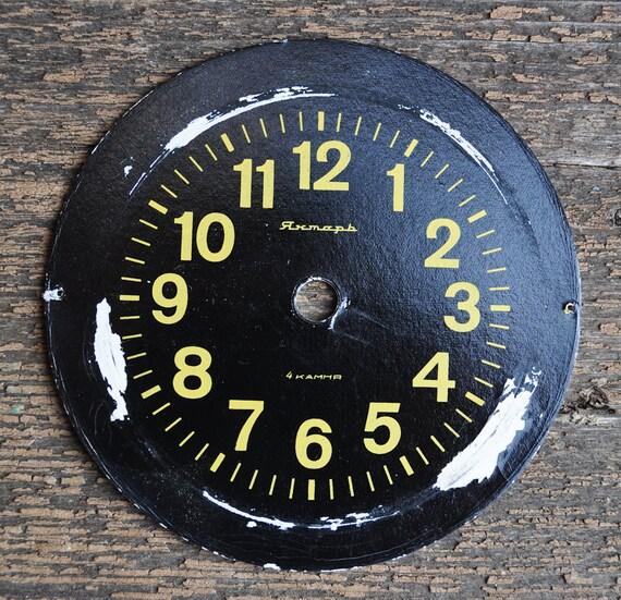 Vintage cardboard alarm clock face,dial.