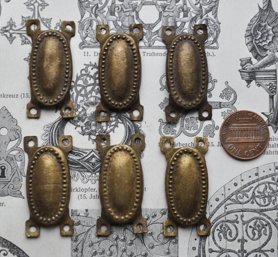 Lot of 6 Vintage brass connectors,decors.