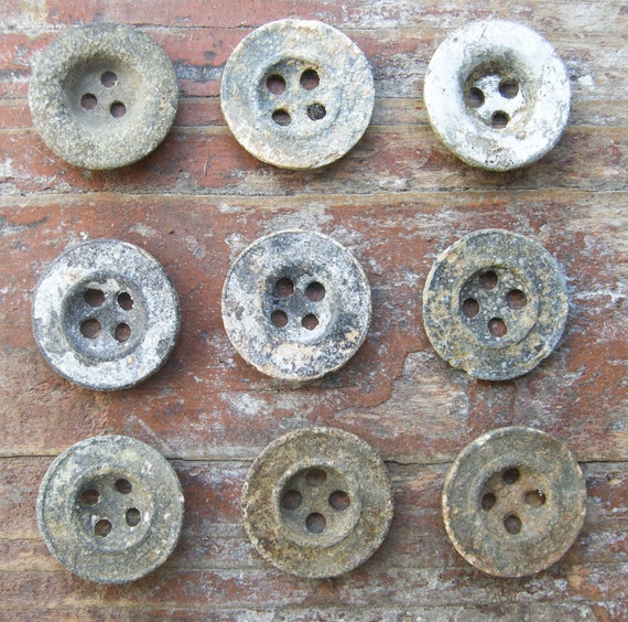 Lot of 9 Vintage German military buttons.WW2 era.