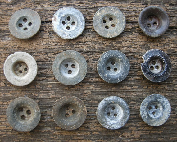 Lot of 12 Vintage German military buttons.WW2 era.