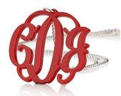 "Acrylic 1.6"" Monogram Necklace - Custom Made"