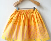 Girl's Gathered Skirt in Sunshine Yellow Marimekko Cotton