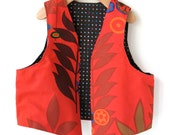 Size 7/8 Woodland Childs Vest- Fully Reversible