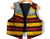 Size 3/4 Africa Wax Print Child's Vest - Reversible