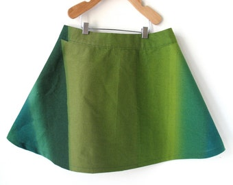 Girls Size 8 Marimekko Skirt- Forest Greens