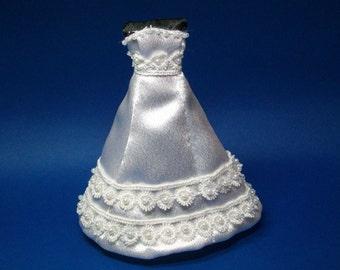 1/12 scale modern, contemporary wedding dress