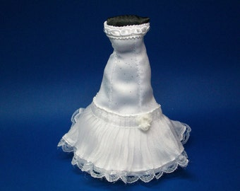 1/12 scale modern, contemporary wedding dress, bridal gift