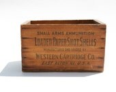 Vintage wooden ammunition crate
