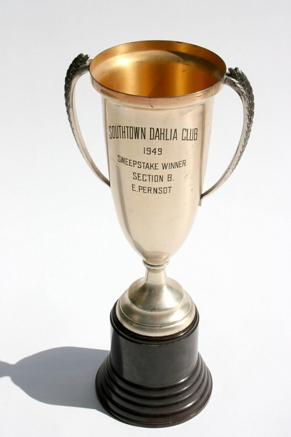 "Vintage 1949 giant 16"" garden club trophy"