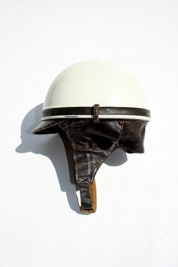 Vintage 1970s French Polo Helmet