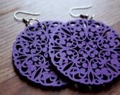 Clearance- Royal Purple Filigree Earrings