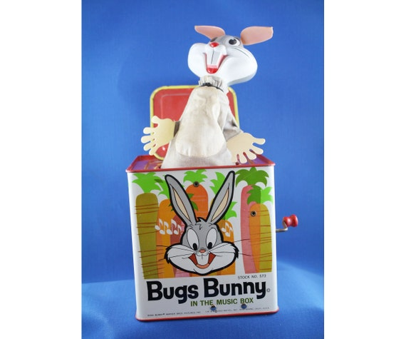 Vintage Bugs Bunny Mattel Jack In The Box Musical 1962