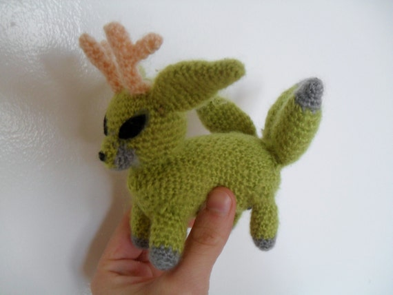 green Foxalope doll