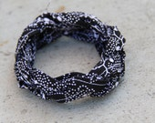 Sailor Knot Fabric Bracelet - Black and White