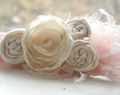 Ivory Rosette Headband - Photo Prop - Baby Headband - Flower Girl Headband