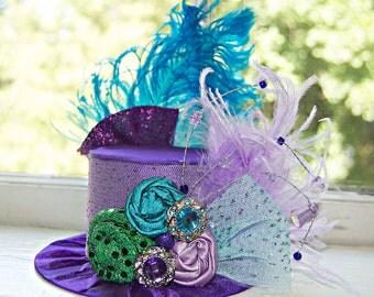 Mini Top Hat  Alice in Wonderland  Inspired Mermaid Ariel Purple Mini Hat