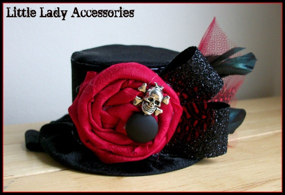 Rocker Mini Top Hat - Photography Prop - Birthday Hat - Pirate - Baby Top Hat