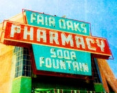 Route 66 - Fair Oaks Pharmacy - 8x10 Fine Art Photograph