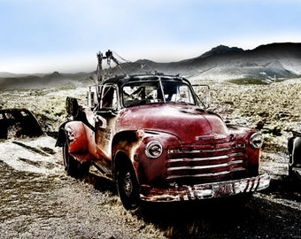 Route 66 - Old Red Tow Truck - Fine Art Photo