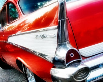 Dixie Highway - Bobby's Rearview 57 Bel Air - Fine Art Photo