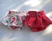 Set of 2 small  WATERPROOF  dog diaper in season diaper panty