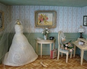 """Miniature roombox   """" the room of the bride"""""""