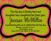 Graduation Party / Birthday Party Invitation Print Your Own 4x6 or 5x7