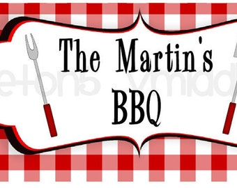 BBQ Water Bottle Labels Cookout / Picnic Print Your Own