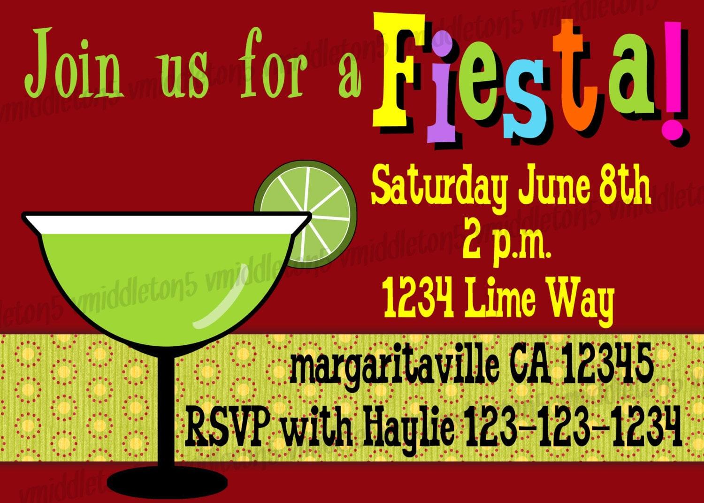 fiesta invitation birthday    cinco de mayo    potluck    cookout