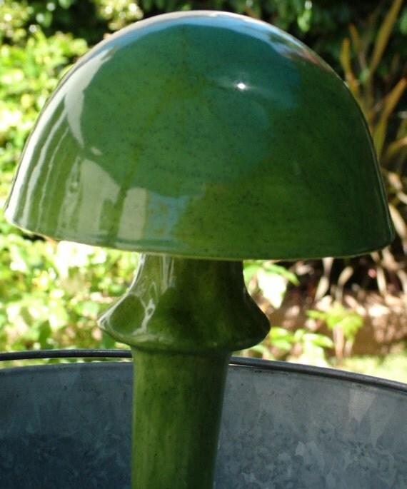 Dramatic Dark Green Mushroom