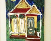 Colonial Home Painting on Canvas