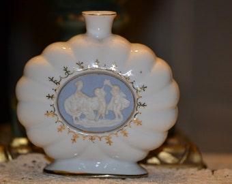 Porcelain Perfume Bottle w/Wedgewood Medallion