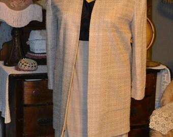 1970s Vintage Lilli Ann Silk 2pc Suit